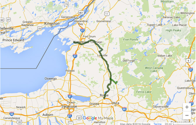 Black River bicycle route