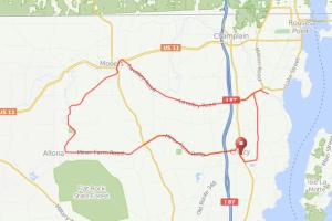 Chazy-altona bicycle ride