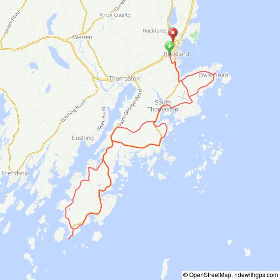 Rockland Maine Lobster bike ride