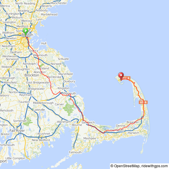 Boston to Provincetown bike ride