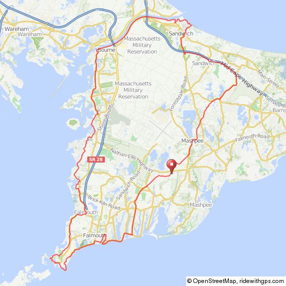 Bourne Cape Cod bicycle ride