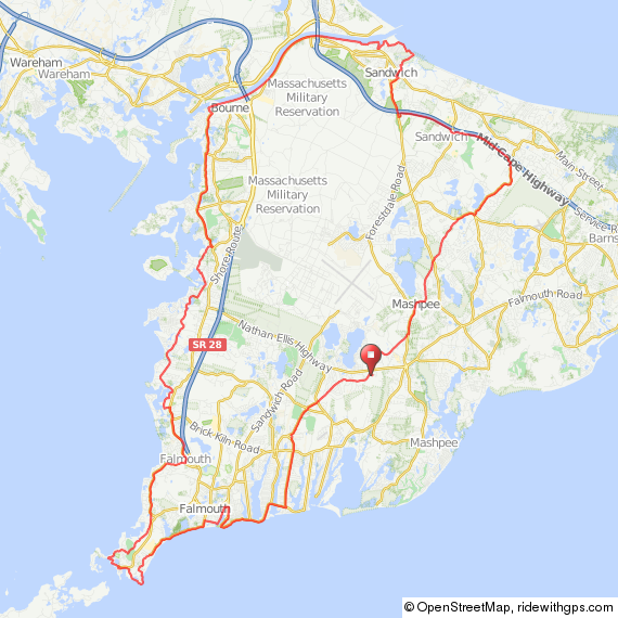 Bourne Cape Cod bicycle ride