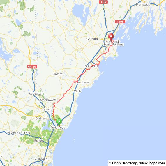 Portsmouth to portland via maine s eastern trail bike for Portland maine bike trails