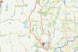 Farmington to Simsbury bicycle ride