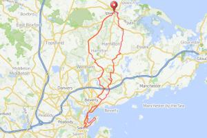 Ipswich to Salem bicycle ride