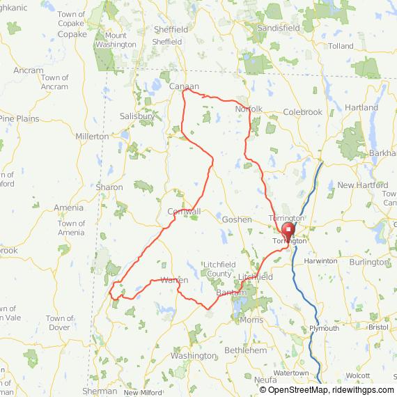 Litchfield Hills bicycle ride Torrington