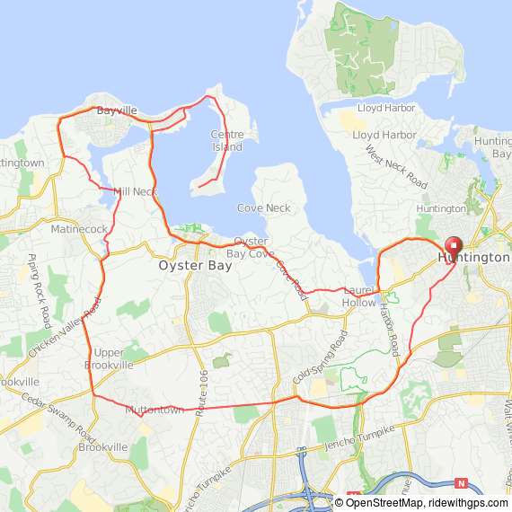 Oyster Bay bicycle ride