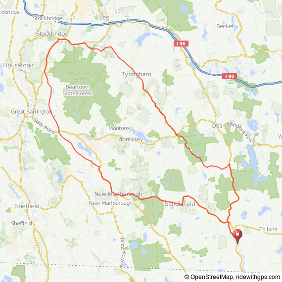 Sandisfield-Stockbridge bicycle ride