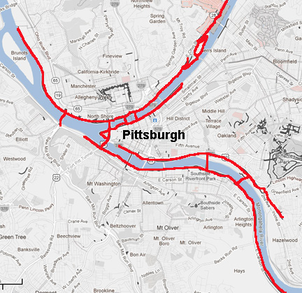 Three rivers trail Pittsburgh
