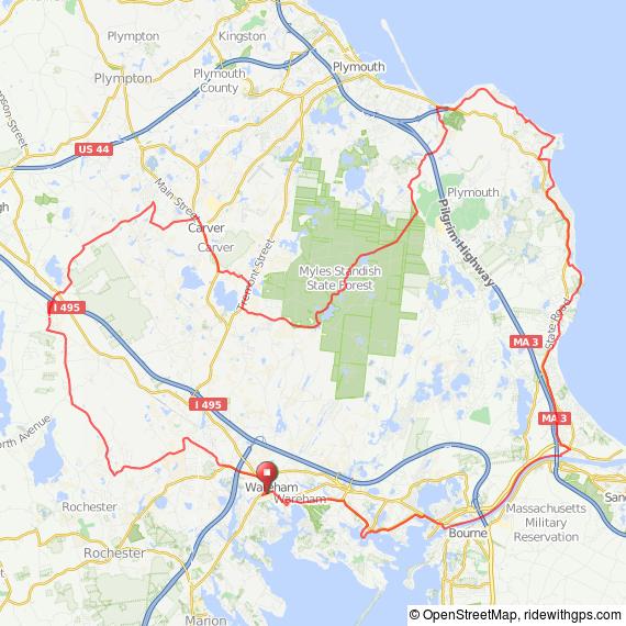 Wareham-Plymouth bicycle ride