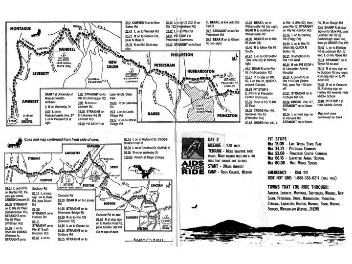 Amherst to Weston century ride
