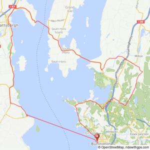 Burlinvton VT to Plattsburgh NY bike ride