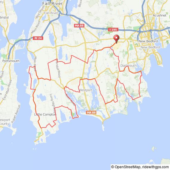 Dartmouth MA bicycle ride