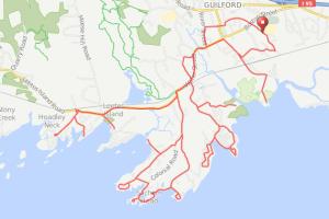 Guilford CT coastal bicycle ride