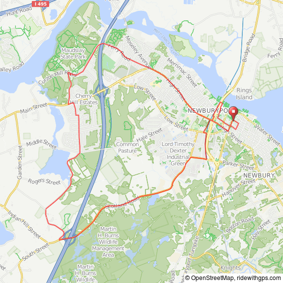 Maudslay State park from Newburyport bicycle ride