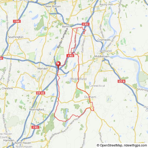 Meriden CT bicycle ride