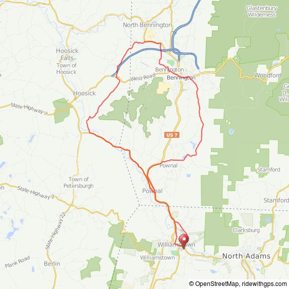 Williamstown to Bennington bicycle ride