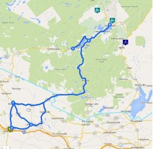Southern Adirondack bicycle ride