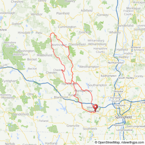 Westfield to Worthington MA bicycle ride