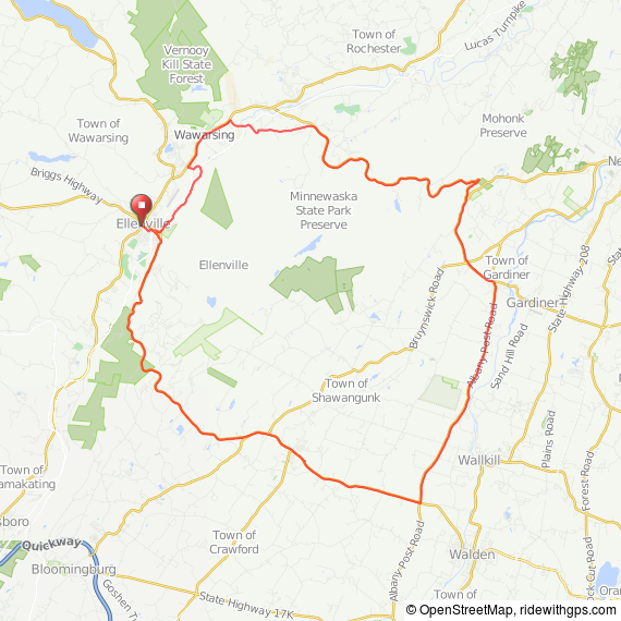 Ellenville MA bicycle ride