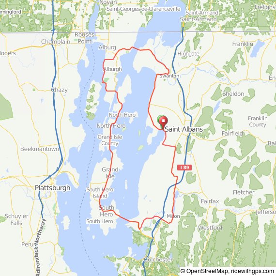 St. Albans VT bicycle ride