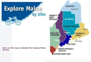 Explore Maine bicycle rides