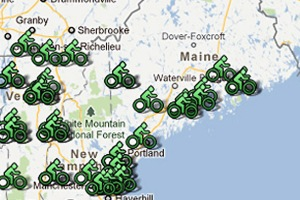 Bicycle rides in Northern New England