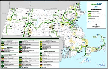 Bay State Greenway map