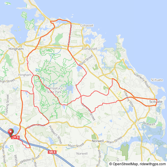 Massachusetts South Shore bicycle ride