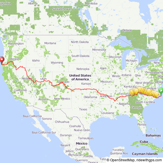 Cycling across America on dirt trails
