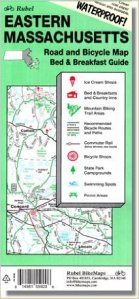 Rubel Bicycle map for Eastern Massachusetts