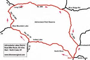 Adirondack cycling loop