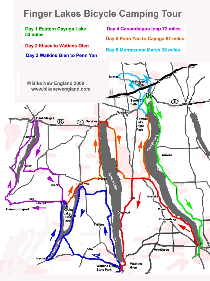 Finger Lakes Bicycle camping tour