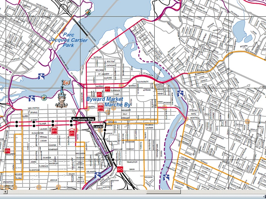 ottawa detailed bike map