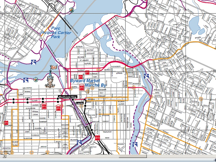ottawa detailed bike map