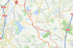 Bradford MA to Boxford MA bicycle ride