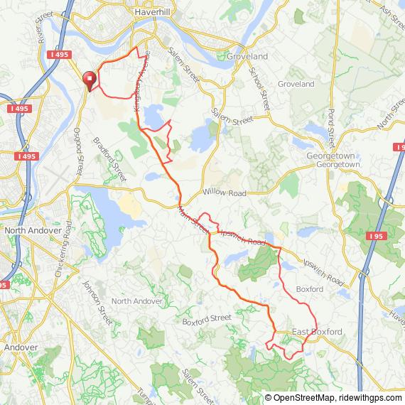 Bradford MA to Boxford MA bicycle ride