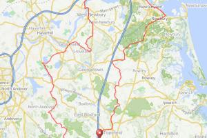 Topsfield to Merrimack River bicycle ride