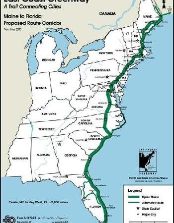 East Coast Greenway Maps Bike New England - East coast map