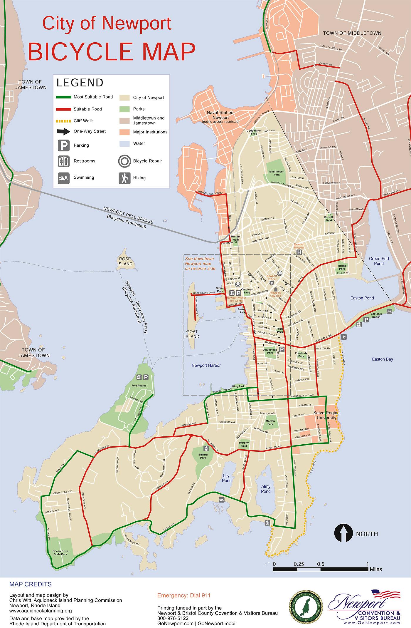 Newport bicycle map Bike New England