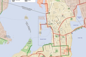 Newport Bike map