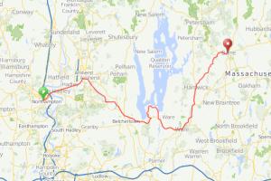 Northampton Quabbin Reservoir bicycle ride