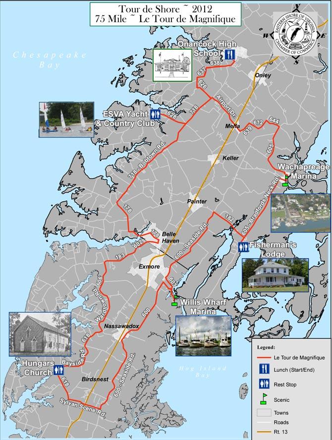 Onancock 75 mile bicycle ride
