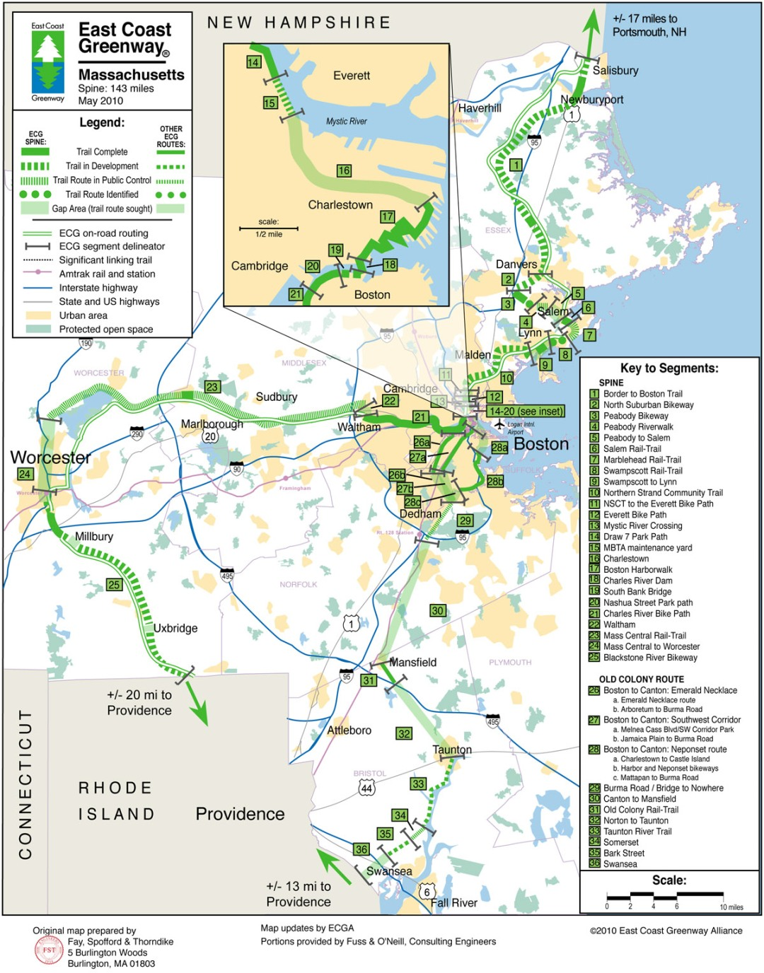 ECGA trail map