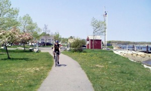 A trail along the Merrimac River in Newburyport