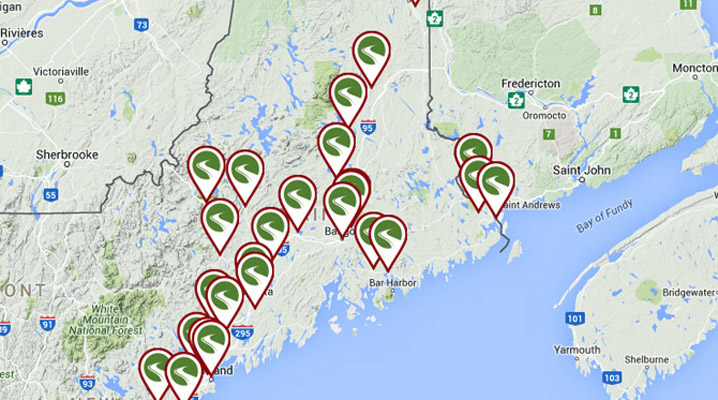 Bicycle trails in Maine