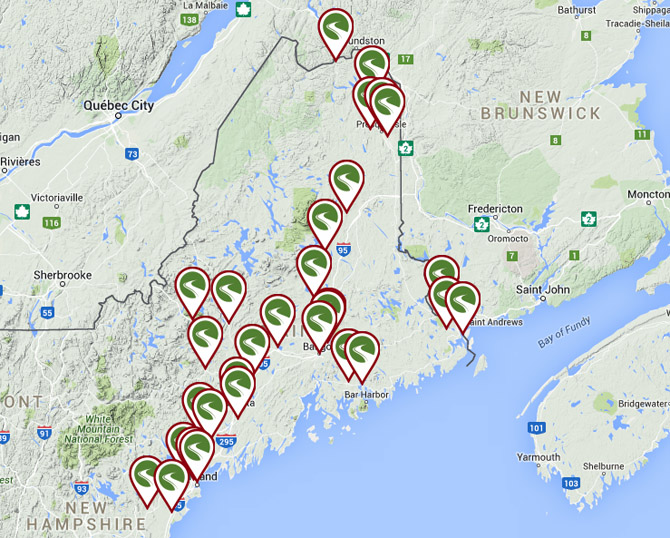 Maine bicycle trails