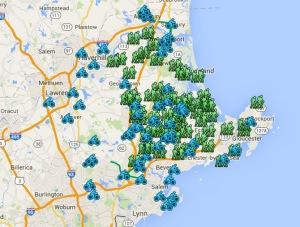 North Shore Massachusetts trails and rides