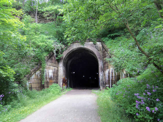 Tunnel on the Montour Trail near Canonsdale
