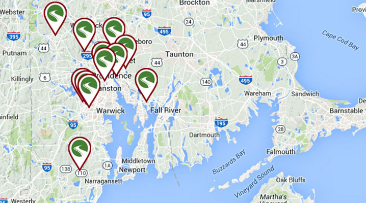Rhode Island bicycle trails